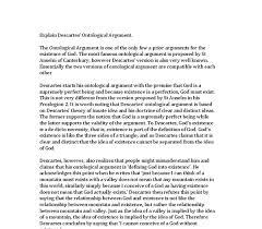 explain descartes ontological argument a level religious  document image preview