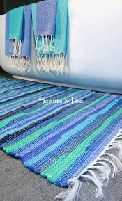 superb woven cotton rugs green recycled bath rug