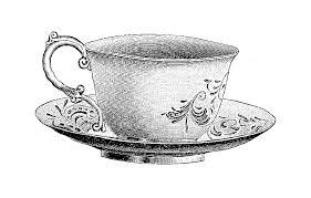 vintage tea cups drawing. Exellent Cups Image Freeuse Download Teacupsaucer Png Clip Art Pinterest Retro  Teacupsaucerpngpng Jpg Black And White Library Vintage Tea Cup  And Tea Cups Drawing P