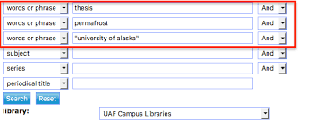 how do i dissertations or theses elmer e rasmuson library example search for a thesis