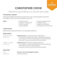 Resume Sample For Teaching Best Teacher Resume Example Livecareer