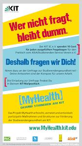 Hochschulsport des KIT:Der Hochschulsport - News und Veranstaltungen -  MyHealth: Studierendenbefragung zum Thema Gesundheit