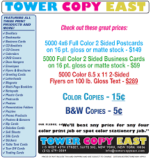 Tower Copy East In New York City Digital Printing Color Copies