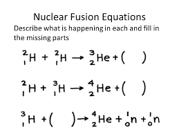 8 nuclear fusion equations