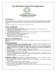 Paramedic Sample Resume Ideas Of Paramedic Sample Resume With Additional Description 23