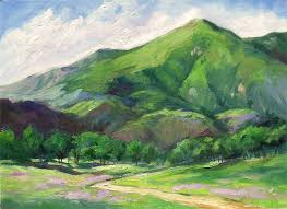 california mountain impressionist landscape oil painting by karen winters