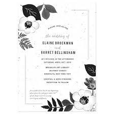 Black And White Invitation Paper Black White Blooms Plantable Wedding Invitation