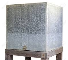 Water Tank Old Made Of Galvanized Iron Plate, Used About 1900.. Stock  Photo, Picture And Royalty Free Image. Image 20242735.