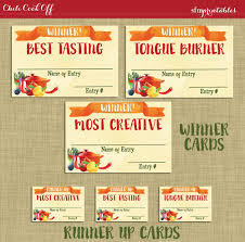 chili cook off judging sheet instant download chili cookoff winner badges labels