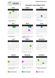Calendarios Para Imprimir 2015 Calendario Laboral Madrid 2015