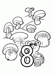 Small Picture Number 8 coloring pages for preschoolers counting numbers