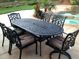 wrought iron patio table furniture white cast chairs outdoor