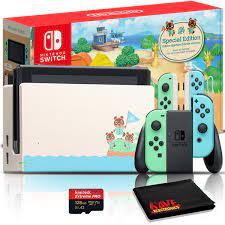 Amazon.com: Nintendo Switch Animal Crossing: New Horizons Edition 32GB  Console Bundle + 128GB High-Speed microSD Card: Video Games
