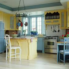 Yellow Kitchen Theme Vintage White Kitchen Cabinets Theme Ideas With Black Hanging Lamp