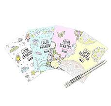 Amazoncom Set Of 4 Mini Coloring Books For Adult Relaxation New