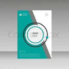 vector leaflet brochure flyer template a4 size design annual report cover template design stylish green magazine cover design template free