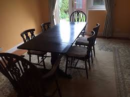 dark wood dining room table 6 chairs