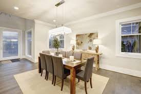 dining room with table that seats 8 people