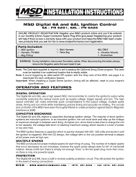 msd 6201 digital 6a ignition control user manual 20 pages also msd 6201 digital 6a ignition control user manual 20 pages also for 6201 digital 6a ignition control installation installation