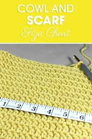 This Cowl And Scarf Size Chart Is A Great Resource To Adjust