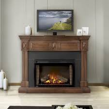 braxton electric fireplace mantel package in burnished walnut nefp29 1215bw