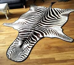 zebra skin rug real designs regarding plan