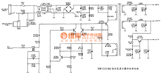 top circuits page gr the power supply circuit diagram of ibm 5153 002 color display