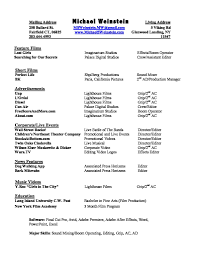 Resume Film Editor Resume