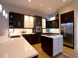 small u shaped kitchen design: small kitchen with modern u shaped kitchen with white marble countertop on interior layout