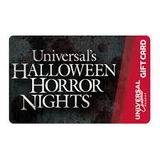 Halloween Gift Cards Universal Collectible Gift Card Halloween Horror Nights Logo