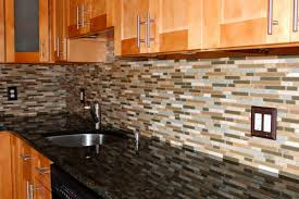 Tiles In Kitchen Ceramic Tile Backsplash With White Wood Cabinet In The Wall
