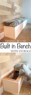 diy dining room wall art. DIY Dining Room Decor Ideas - Built In Bench With Storage Cool Diy Wall Art N
