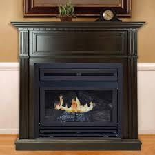 convertible ventless natural gas fireplace in