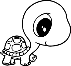 Small Picture Big Head Small Body Tortoise Turtle Coloring Page Wecoloringpage