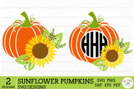 # png file svg file eps file cdr file. 2 Halloween Sunflower Pumpkins Graphic By Redearth And Gumtrees Creative Fabrica