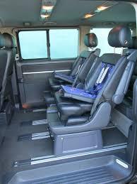 vw t5 penger swivel seats baby seat insert s full black leather