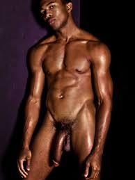 Big black nude male model