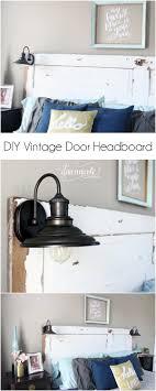 headboard lighting. diy vintage door headboard learn how to turn a into and lighting