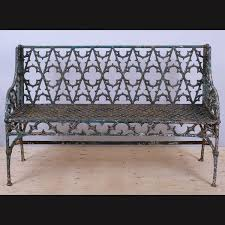 mid 19th century val d osne gothic revival cast iron garden bench