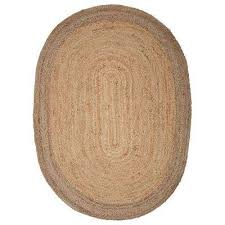 natural jute natural gray 7 ft x 9 ft oval indoor area rug
