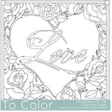I Love You Coloring Pages For Adults Coloring Book Sheets Bspokeme