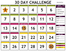 30 Day Chart Template I Made This Free Printable 30 Day Challenge Calendar For