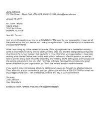 Cover Letter Retail Management Cover Letter Sample Assistant