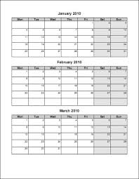 Free Print Your 2010 4 Pages Portrait Microsoft Word Calendar No Ads
