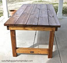diy outdoor table. DIY Pottery Barn Inspired Dining Table The Happier Homemaker Pertaining To Diy Outdoor Decorations 26