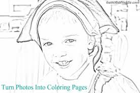 Small Picture Photo Into Coloring Page Free Coloring Page Cartoon