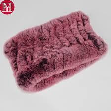 Online Shop <b>Hot Sale</b> Lady <b>Real</b> Rex Rabbit Fur Scarf Elastic ...