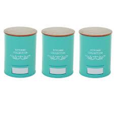 Retro Kitchen Storage Jars Set Of 3 Vintage Shabby Chic Tea Coffee Sugar Kitchen Storage Jars