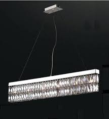linear crystal chandelier lighting modern contemporary