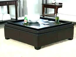 just home black square storage tray ottoman ottomans target with round leather trays amazing modern coffee